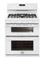 "Frigidaire Gallery 30"" White Freestanding Double Oven Gas Range"