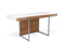 BDI Format 6301 Natural Walnut And Satin White Desk