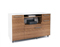 BDI Format 6320 Natural Walnut And Stain White Mobile Credenza