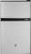 GE CleanSteel Double-Door Compact Refrigerator