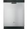 "GE 24"" Silver Built-In Dishwasher"