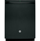"GE 24"" Black Tall Tub Built-In Dishwasher"