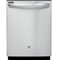 "GE 24"" Stainless Steel Tall Tub Built-In Dishwasher"