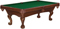 Brunswick Glen Oaks 8 Ft. Chestnut And Green Billiard Table Package
