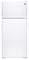 GE White 15.5 Cu. Ft. Recessed Handle Top-Freezer Refrigerator