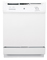 "GE 24"" White Built-In Dishwasher With Power Cord"