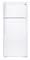 GE White 17.5 Cu.Ft Top-Freezer Refrigerator