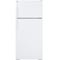 GE White Top-Freezer Refrigerator