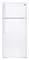GE White 17.5 Cu. Ft. Top-Freezer Refrigerator
