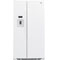 GE 21.9 Cu. Ft. White Counter Depth Side-By-Side Refrigerator