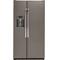 GE 21.9 Cu. Ft. Slate Counter Depth Side-By-Side Refrigerator
