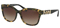 Coach Dark Vintage Tortoise Square Womens Sunglasses