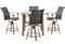 Hanover Hermosa 5-Piece Outdoor High-Dining Patio Set