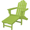 Hanover Adirondack Lime All-Weather Chair With Attached Ottoman