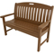 "Hanover Avalon 48"" Teak All-Weather Porch Bench"