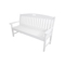 """Hanover Avalon 60"""" White All-Weather Porch Bench"""