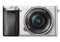 Sony Alpha A6000 24.3 Megapixel Silver Mirrorless Digital Camera With 16-50mm Lens
