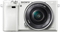 Sony Alpha A6000 24.3 Megapixel White Mirrorless Digital Camera With 16-50mm Lens