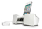 iLuv Vibro II White Alarm Clock With Shaker