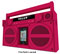 iHome Pink Portable FM Stereo Boombox