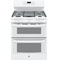 "GE 30"" White Freestanding Double Oven Gas Range"