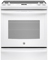 """GE 30"""" White Slide-In Electric Convection Range"""