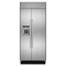 "KitchenAid 36"" Built-In Stainless Steel Side-By-Side Refrigerator"