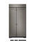 KitchenAid 25.5 Cu. Ft. Panel Ready Built-In Side-By-Side Refrigerator