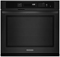 "KitchenAid Black 27"" Built-In Single Oven With Even-Heat Technology"