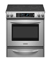 "KitchenAid 30"" Slide-In Stainless Steel Electric Range"