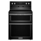 """KitchenAid 30"""" Electric Double Oven Black Convection Range"""