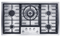 "Miele 36"" Stainless Steel Flush-Mounted Gas Cooktop"