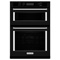 "KitchenAid 30"" Black Built-In Microwave Combination Oven"