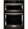 "KitchenAid 30"" Black Stainless Combination Convection Wall Oven"