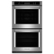 "KitchenAid 27"" Stainless Steel Double Wall Oven"