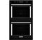 "KitchenAid 30"" Black Double Wall Oven"