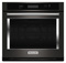 "KitchenAid 30"" Black Stainless Single Wall Oven"