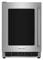 "KitchenAid 24"" Stainless Steel Undercounter Glass Door Refrigerator"