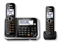 Panasonic Black Cordless Answering System With 2 Handsets