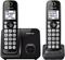 Panasonic Black Expandable Cordless Phone With 2 Handsets
