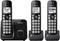 Panasonic Black Expandable Cordless Phone With 3 Handsets