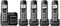 Panasonic Black Expandable Cordless Phone With 5 Handsets