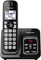 Panasonic Metallic Black Expandable Cordless Phone With Answering Machine