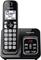 Panasonic Metallic Black Expandable Cordless Phone With Answering Machine