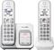 Panasonic White Expandable Cordless Phone With 2 Handsets
