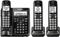 Panasonic Black Cordless Phone With 3 Handsets