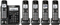 Panasonic Black Cordless Phone With 5 Handsets
