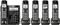 Panasonic Black Cordless Phone With 5 Handsets