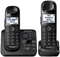 Panasonic Black Expandable Digital Cordless Phone with 2 Handsets