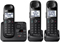 Panasonic Black Expandable Digital Cordless Phone with 3 Handsets